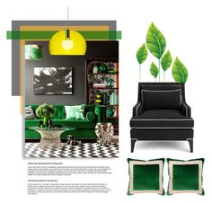 """""""Untitled #3232"""" by kellie-debrandt-mescher ❤ liked on Polyvore featuring interior, interiors, interior design, home, home decor, interior decorating, Kate Spade, Kartell and Miles Talbott"""