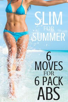 SLIM FOR SUMMER! 6 MOVES FOR 6 PACK ABS. Check out these 6 workouts that will give you 6 pack abs. Each workout can be done at home! No gym required. Lose weight and feel great this summer with these killer workouts. 6 Pack Abs Workout, Abs Workout Routines, Ab Workout At Home, At Home Workouts, House Workout, Summer Workouts, Core Workouts, Lose Weight In A Week, How To Lose Weight Fast