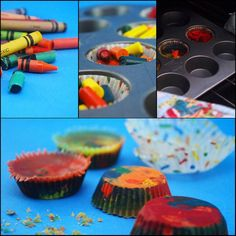 How to Make Rainbow Crayons. Rainbow crayons are crayons taken to the next level. A fun twist mixing colors can make your colored creations more dimensional and unexpected. These crayons are sure to keep your kids coloring for hours! Fun Crafts For Kids, Craft Activities For Kids, Diy Arts And Crafts, Crafts To Make, Art For Kids, Diy Crafts, Craft Ideas, Kids Fun, Toddler Crafts