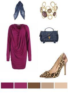 Purple, Pink, Brown & Beige