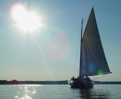 Sunset Champagne Cruise for romance, relaxation, and an authentic experience aboard the yacht Sail Selina II, St Michaels MD