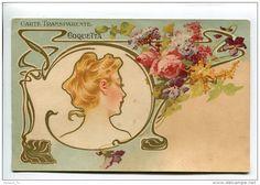 Illustrators & photographers - savonnerie Femme art nouveau Coquetta Nantes