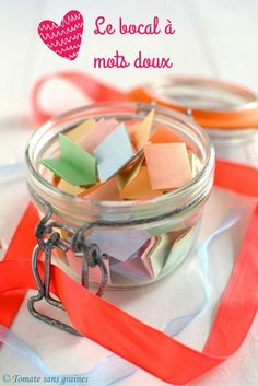 """experimenter bocal du bonheur a mots doux, home decor"""" – Fashion and Lifestyle Diy For Kids, Gifts For Kids, Cadeau St Valentin, Experiment, Cadeau Couple, Happy Jar, Happy Life, Christmas Gifts For Couples, Party In A Box"""