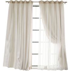 Delicate sheer tulle overlay adds a romantic effect to functional curtains. Featuring an innovative triple weave polyester construction August Grove curtains are extremely soft and drapable. They help to insulate against heat and cold and reduces outside noise.