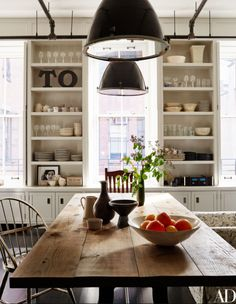 Architectural Digest- love open shelving
