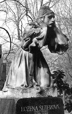 Cemetery Statue, Czech Republic deep mourning
