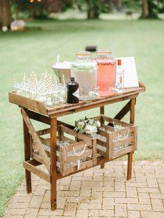65 Amazing Ways to Set Off a Rustic Spring Wedding---wedding drink station, summer weddings, garden weddings