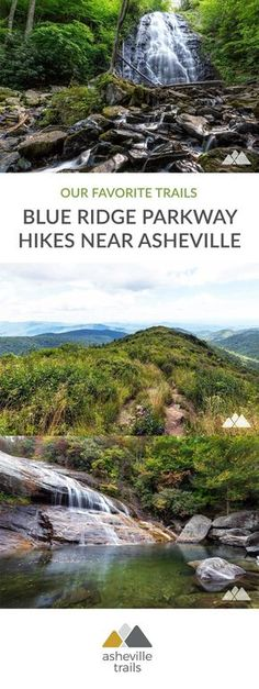 Hike these popular Blue Ridge Parkway trails to stunning mountain summit views, tumbling waterfalls and through some of Western North Carolina's most beautiful forests near Asheville. #hiking #trailrunning #camping #backpacking #asheville #nc #northcarolina #travel #outdoors #adventure