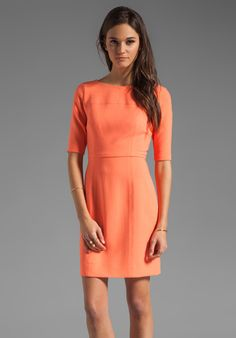 SHOSHANNA Delfina Dress in Neon Coral at Revolve Clothing
