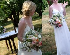 Saipua floral arrangements in Brooklyn...  I love this bouquet, so fresh and pretty, but not overpowering the bride.