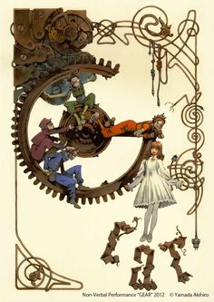(Blanche & the mechanix, the story of a girl that falls accidently in a world which lives in a mechanic era) #storyidea Akihiro Yamada WORKS