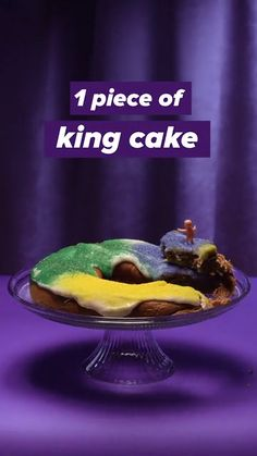 1 Piece of King Cake = 50 Minutes of Cajun Two-Stepping Up King, Calorie Counter, Having A Bad Day, Don't Give Up, Fried Chicken, Mardi Gras, How To Stay Healthy, Yummy Treats, Cake Recipes