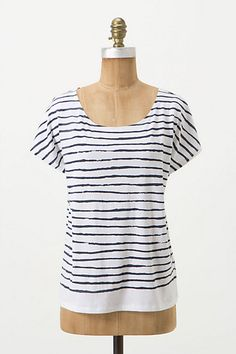 organic cotton french sailor top. anthropologie exclusive from O by Organic.