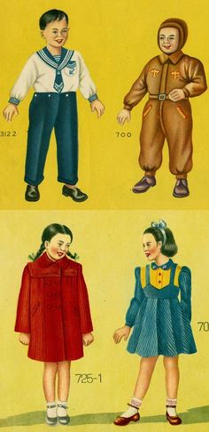Vintage Chinese children's clothing catalogue.