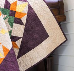 September Sunrise Quilt Kit by Debbie Caffrey featuring Boundless Aura Blenders Fabric | Craftsy