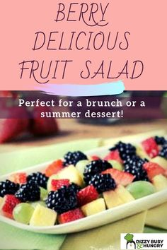 Easy fruit salad recipe made with a simple dressing perfect for Easter Brunch Fruit Salad Recipes, Chicken Salad Recipes, Strawberry Recipes, Easy Family Meals, Kids Meals, Juicy Fruit, Keto, Delicious Fruit, Tortellini