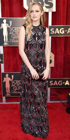 See All the Celebrity Looks from the 2017 SAG Awards Red Carpet -TERESA PALMER Teresa Palmer in Valentino. from InStyle.com