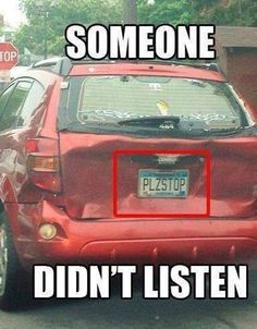 Plzstop number plate LOL funny
