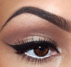 Rosy gold eye makeup