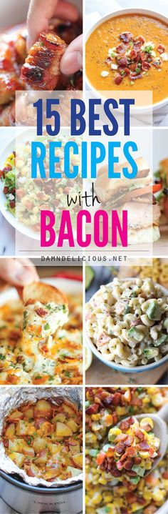 15 Best Recipes with Bacon @FoodBlogs