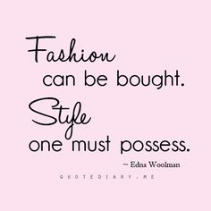 Fashion Quotes Pink