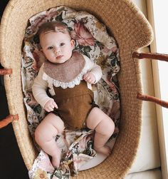 Floral baby swaddle blanket.