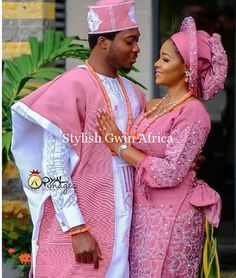Aso Oke outfit for couples/African women's clothing / African fashion/ wedding suit/ elegant women outfit /Special event dress Nigerian Wedding Dresses Traditional, Traditional Wedding Attire, African Traditional Dresses, African Lace Dresses, African Dresses For Women, Latest African Fashion Dresses, African Women, Couples African Outfits, Wedding Suit Styles
