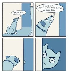 """13 Chuckle-Worthy Comics For Your Viewing Pleasure - Funny memes that """"GET IT"""" and want you to too. Get the latest funniest memes and keep up what is going on in the meme-o-sphere. Funny Cute, Funny Jokes, Hilarious, Funny Gifs, Funny Stuff, Memes Humor, Cat Memes, Animal Memes, Pets"""