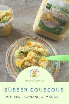 Couscous Obstsalat Rezept #beikost #couscous