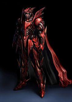 Armadura do dragão vermelho.  Feita das escamas do amante de Tiamat