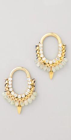 lizzie fortunato jewels. forgotten modern earrings.