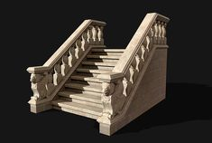 Modular Stairway may be transformed into many types of stairways (porch, straight or corner staircases, one, two or more floors, Unity package has prefabs) T. Classic House Exterior, Interior And Exterior, Door Design, House Design, Blender Models, Outdoor Steps, Staircase Remodel, Farmhouse Renovation, Architrave
