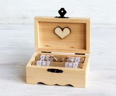 Wedding ring box, Ring bearer box, Wooden Wedding Box, Personalized Wedding Box | eBay
