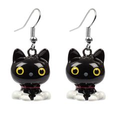 <p>Take it upon yourself to snag a pair of lucky black cat earrings! The purrfect pickup for any cat-lover.</p> <ul> <li>Please note that earrings can not be returned due to hygiene reasons.</li> </ul>