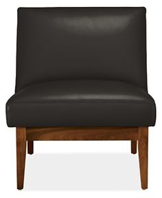 Edwin Leather Chair - Modern Accent & Lounge Chairs - Modern Living Room…