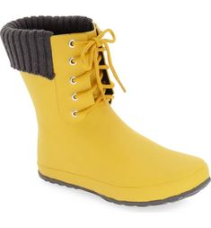 c3be1a9373e däv Lace-Up Weatherproof Rain Boot (Women)