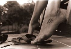 Hebrew Tattoo. I don't know what this says... but I want mine to say I am loved in Hebrew. I would love it on my foot too. cute!