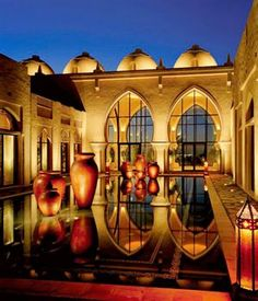 Arabic architecture at The One & Only Royal Mirage Hotel in Dubai...I HAVE GOT TO SEE THIS