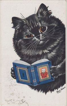 cat reading mouse book :)