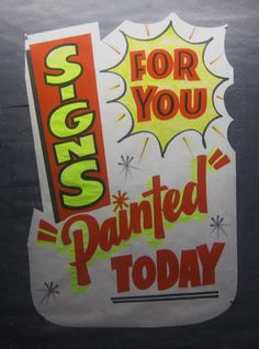 signs painted