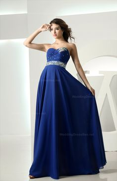 Cheap beaded formal gown, Buy Quality elegant evening dresses directly from China formal gowns Suppliers: NIXUANYUAN 2017 Long Elegant Evening Dress 2017 Royal Blue Chiffon Beaded Formal Gowns A Line vestidos de noite With Sashes Cute Wedding Dress, Fall Wedding Dresses, Colored Wedding Dresses, Perfect Wedding, Dream Wedding, Bridesmaid Dresses, Prom Dresses, Dress Prom, Party Dress