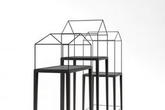 Home Shelves is a minimal design created by Kazakhstan-based designer Artem Zigert. The shelves have house-like metal frames suspended by a wooden base. The heights and sizes of the shelves are slightly different, and the colors come in white and black. I definitely love when architecture is tied into everyday objects, even on an elementary level such as this. (4)