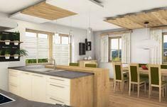 Küche mit Bar Kitchen Island, Home Decor, Timber Wood, Island Kitchen, Decoration Home, Room Decor, Home Interior Design, Home Decoration, Interior Design