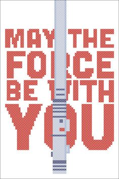 BOGO FREE! Cross stitch - STAR Wars May the force be with you -pdf cross stitch pattern - pdf pattern instant download #159 by Rainbowstitchcross on Etsy