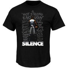 Men's Golden State Warriors Stephen Curry Majestic Black Silence the Critics T-Shirt