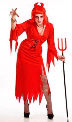 DisfracesMimo, disfraz de diablesa roja para mujer talla m/l.Éste disfraz de Halloween es ideal para celebrar la Fiesta de la Noche de las Brujas cada vez más arraigada en nuestro País en Pubs. Este disfraz de diabla es ideal para tus fiestas temáticas de disfraces de miedo y diablos para mujer adultos.