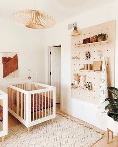 25 Amazing Nursery Design - Are you looking for some great nursery room ideas for your baby? Almost every parent wants to give the best to their baby. So naturally they look for . Nursery Twins, Nursery Room, Apartment Nursery, Ikea Baby Nursery, Ikea Crib, Boho Nursery, Ikea Baby Bed, Small Twin Nursery, Ikea Toddler Bed