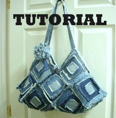 Tutorial Square Denim Purse