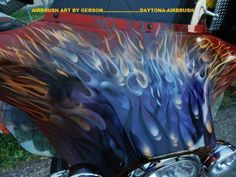 flames custom motorcycle airbrush art by Henry Gerson of Daytona-Airbrush...check us out on facebook!