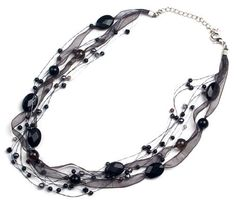 Oi! Onyx, Fresh Water Pearl and Crystal On Black Ribbon Necklace - N2027, 40cm + 6cm extender by Oi!, http://www.amazon.co.uk/dp/B0017SJELK/ref=cm_sw_r_pi_dp_6XkRqb1AG4FD7